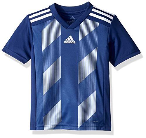 adidas Juniors' Striped 19 Soccer Jersey, Dark Blue/White, Medium