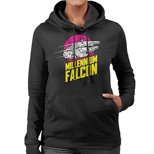 Star Wars Millennium Falcon Bold Lightspeed Women's Hooded Sweatshirt