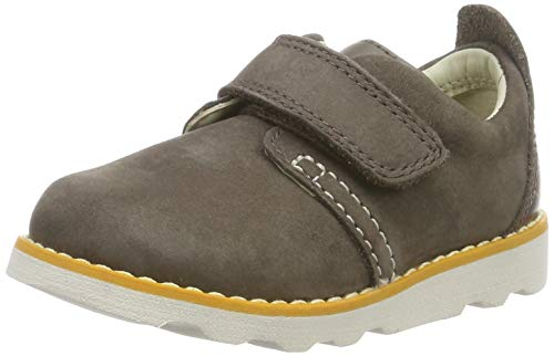 Clarks Jungen Crown Park T Sneaker, Braun (Brown Leather Brown Leather), 20 EU