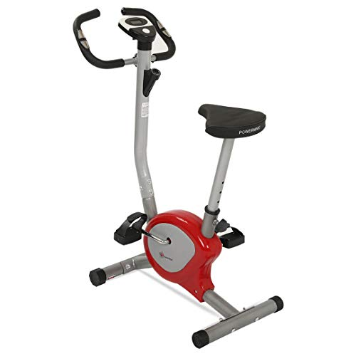 Powermax Fitness BU-200 Alloy Steel Exercise Upright Bike, Red & Silver