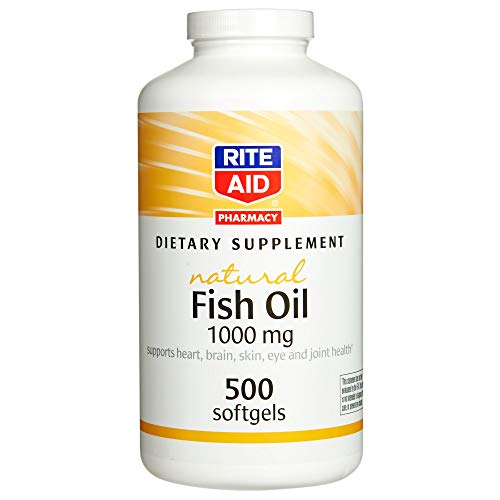 Rite Aid Fish Oil Dietary Supplement, 1000 mg - 500 Count | Omega 3 Supplement