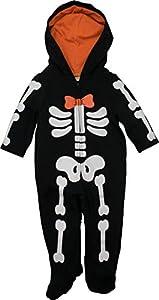 funstuff Divertido Disfraz de Esqueleto de Peluche con Mono con Patucos para Halloween para Bebé Niño (0-3 Meses)