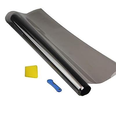 Film teinté noir pour fenêtre de voiture - 300 x 50 cm - Autocollant autocollant - Film de protection solaire pour fenêtre de voiture, 15%