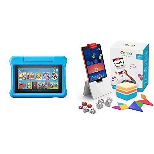 Fire 7 Kids Edition Tablet + Osmo Genius Kit Bundle (Blue)