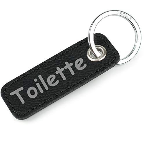 TROIKA Retrotag Toilette | Schlüsselring und Anhänger im Retro Style | hochwertiger und langlebiger Schlüsselanhänger | inkl. Troika Original Keyring | in Geschenkverpackung