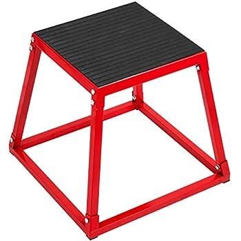 Happybuy Plyometric Box Set,18 Inch Plyometric Platform and Jumping Agility Box Set,Red Plyometric Platform,for Jump Exercise Fit Training & Crossfit & Conditioning