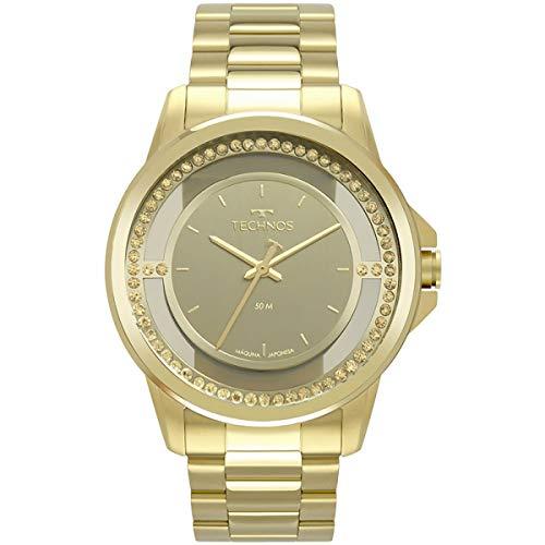 Relógio Technos Feminino Dourado Pulseira Aço Dourado