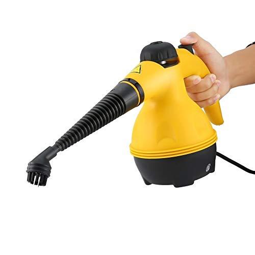 PUGONGYING Popular Limpiador de Vapor eléctrico Portátil Pandheld Steamer Hogar Hogar Oficina Habitación Limpieza Aplicaciones Anexos Herramienta de Cepillo de Cocina Durable
