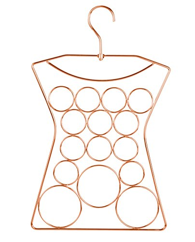 Yimai Scarf Hanger Jewelry Organizer 360 Degree Rotated Hanger Design,Steel Copper Plated