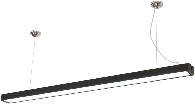 LED 24W Schwarz Extra Lang Pendellampe, 1200Mm 6000K Aluminium Acryl Hhenverstellbar Hngeleuchte, Deckenleuchte, Pendelleuchte Zwei InsGrößetionsoptionen, Für Keller Küche Büro Beleuchtung
