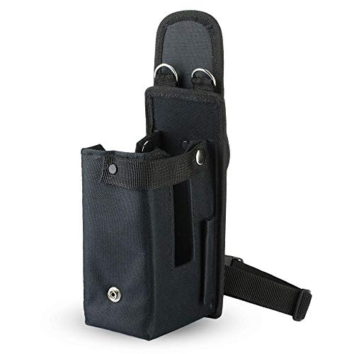 e-Holster Handheld Mobile Computer Holster (Large), Carrying Case Cradle for Pistol-Grip Barcode Scanners, Ballistic Nylon Pouch with Belt Clip, Belt Loop, Leg and Shoulder Strap, Fits Zebra MC9300
