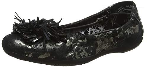 Marc Shoes Damen Janine Geschlossene Ballerinas, Schwarz (Sheen Mirage Black 00827), 39 EU