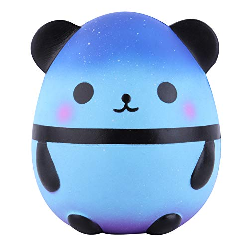 Anboor Squishies Panda Egg Jumbo Squishy Slow Rising Squeeze Toys Scented Kawaii Squishies Animal Toy for Kids Adults 1 Pcs (Galaxy)