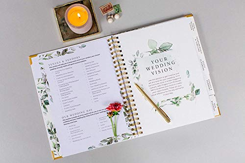Product Image 6: Wedding Planner & Organizer – Floral Gold Edition – Diary Engagement Gift Book & Calendar