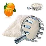 SRTYZ Recolector de Frutas, Metal Cesta para Recolector de Frutas con Bolsa de Lino, Fruit Picker Hortícola Recogedor Cesta para Manzanas, Naranjas, Peras, Otras Frutas