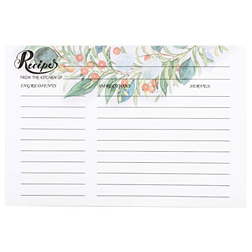 COFICE Recipe Cards 4x6 Inch, Cut Thicken Card Stock Double Sided Recipe Cards, 50-Pack (Garland)