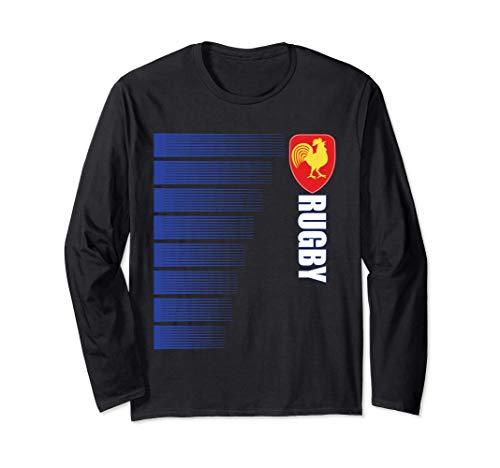 Frankreich Rugby-Trikot französisch Rugby 2-seitige Langarmshirt