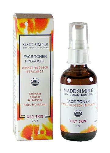 Certified Organic Raw Vegan Cruelty-free Orange Blossom Bergamot Face Toner Hydrosol