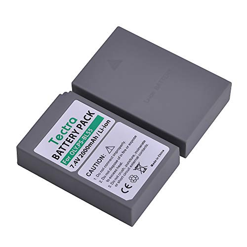 Tectra 2-Pack BLS-5 Battery for Olympus BLS-5, BLS-50, PS-BLS5 and Olympus OM-D E-M10, Pen E-PL2, E-PL5, E-PL6, E-PL7, E-PM2, Stylus 1 Camera