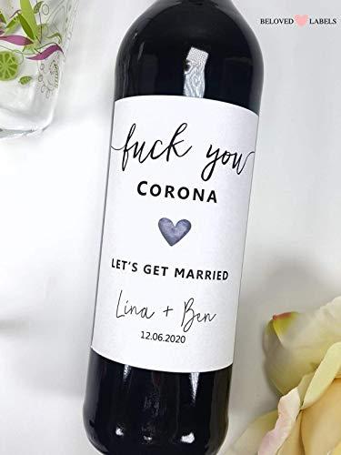 Personalisiertes Flaschenetikett Hochzeit - Personalisiertes Hochzeitsgeschenk Wein Flaschen Etikett Weinflaschenetikett Geschenk Hochzeitsdeko wedding gift