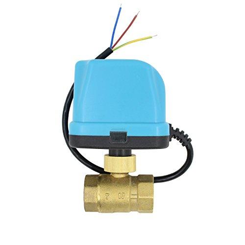 2 wege motorkugelhahn kugelventil elektrisch 12v 24v DC 2 wege ventil elektrisch 1/2 3/4 1 1-1/4 1-1/2 2 zoll (DC 24V, 1/2 zoll DN15)