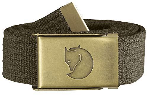 Fjallraven - Canvas Brass Belt 4 cm, Dark Olive