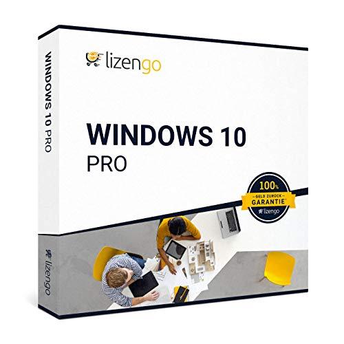 Windows 10 Pro - Vollversion 32 bit & 64 bit | neuer und originaler Produktschlüssel | Box Inkl. Anleitung von lizengo