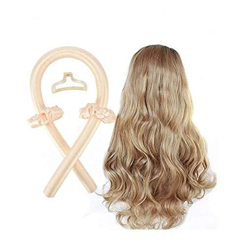 Heatless Curling Rod Headband Hair Rollers Heatless, for Women Girls Hairstyles Headband Lazy Curler yellow
