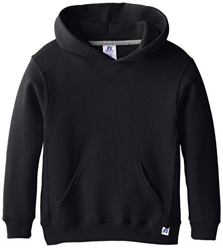 Russell Athletic Jungen Athletic Big Boys' Fleece Crew, Hoodie-Black, M Kapuzenpullover, Medium