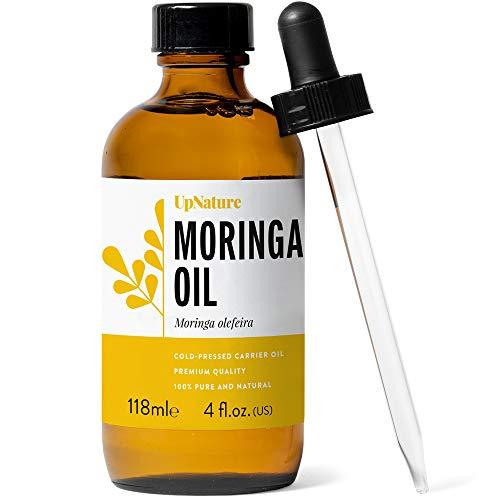 Moringa Oil 4 OZ - Moringa Oleifera Essential Oil for Face & Skin, Great for Hair Growth - Pure, Therapeutic Grade, Undiluted, Non-GMO