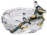 CHBIAO cenicero Cristal Cristal cenicero Little pájaro Esmalte ceniceros Mesa de Mesa al Aire Libre Interiores para la Oficina del hogar decoración Regalos Bandeja de Cenizas Cigarrillo