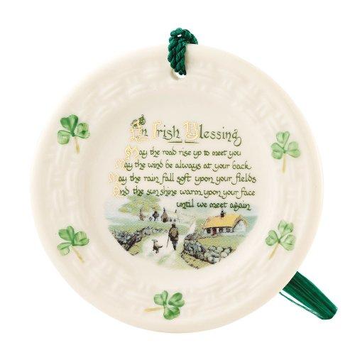Belleek 2906 Irish Blessing Ornament, 3.3-Inch, White