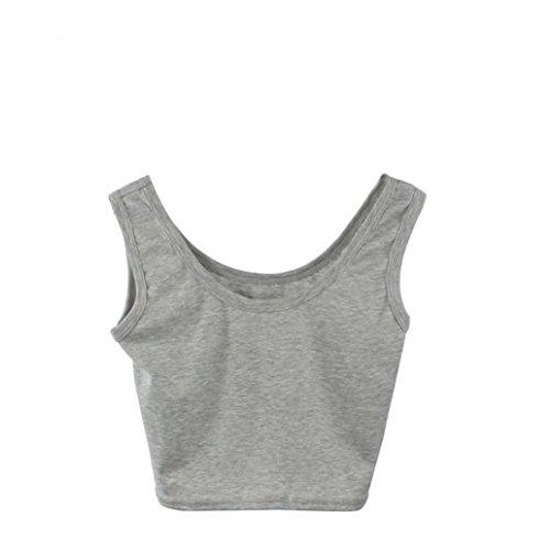 TWIFER Damen Tight Crop Top Rundhals T-Shirts Sport Dance Kurz Tank Tops