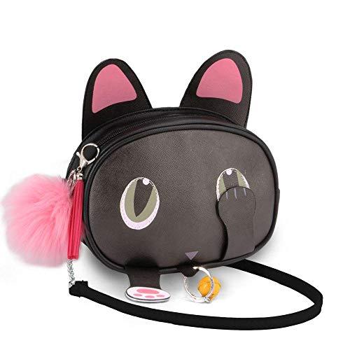 Oh My Pop! Oh My Pop! Cat-Bolso Shy Bolso Bandolera, 18 cm, Negro
