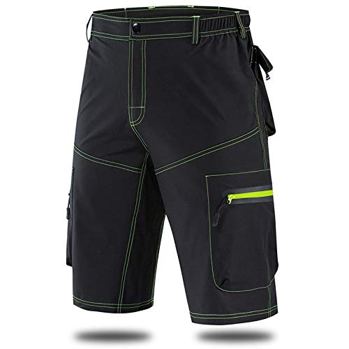 Pantalones cortos Tight de Descenso Masculino Ciclista Resistente al Agua Respirable Fina Ropa de la Bicicleta del Montar a Caballo de Deporte MTB (Color : BL133 B, Size : XXL)