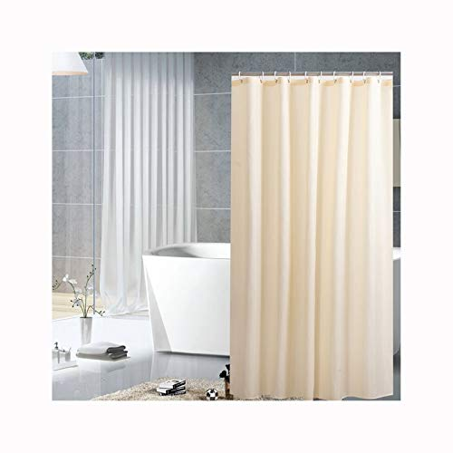 Bishilin Polyester-Stoff 3D Vintage Duschvorhang 100x180 Beige Anti-Schimmel Duschvorhang