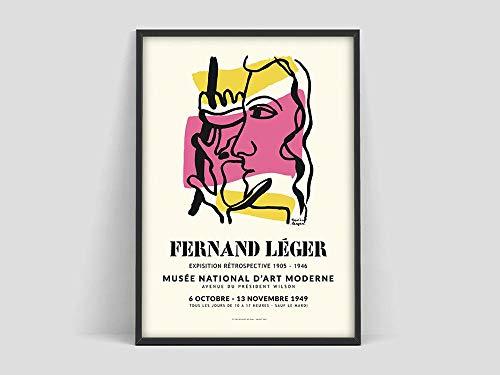 Póster de Fernand Leger, impresión de Fernand Leger, póster de exposición de arte, Museo de Arte Moderno, impresión vintage, lienzo sin marco Z 30x40cm