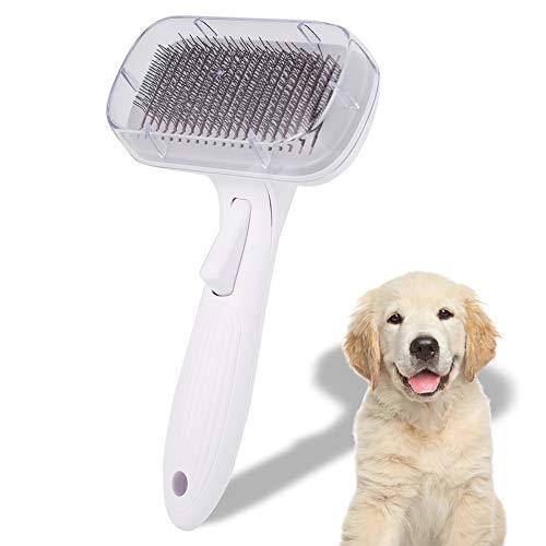 Girls'love talk Premium Hundebürste & Katzenbürste für langhaar mittellanges Fell, Universal-Pflegebürste, Zupfbürste Softbürste, Katzenbürste, selbstreinigend Hunde-buerste Slicker Brush