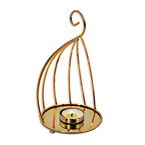 MYW Golden Huisvlijt Kaarshouder Decoratie Romantisch Diner Bij Kaarslicht Kaarshouder (Size : S)