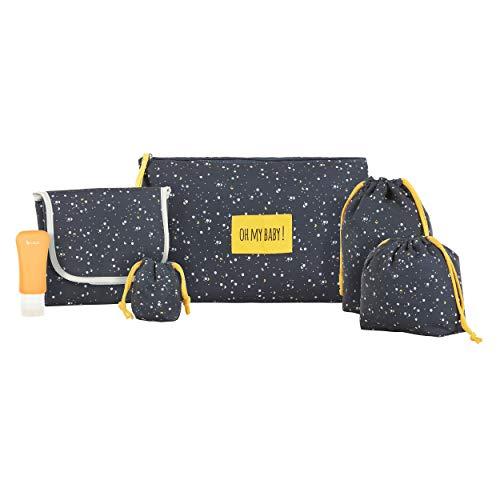 Badabulle B043033 Kit Per Il Cambio Change & Go 1 Pochette E 5 Accessori, 0.3 Kg