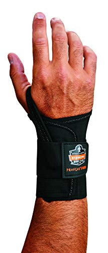 Ergodyne - 70018 ProFlex 4000 Single Strap Wrist Support, Black - X-Large, Left Hand