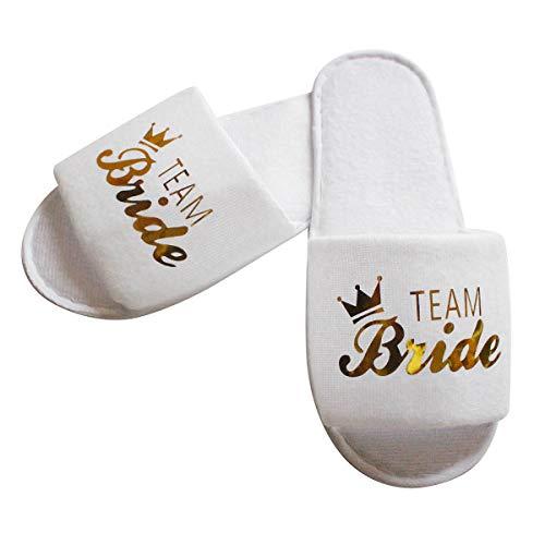 Tabpole 10 pares de zapatillas de spa para novia, equipo de marca...