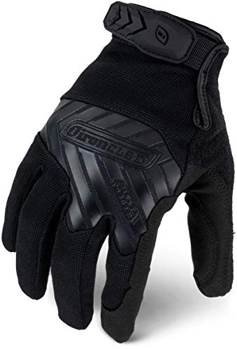 IRONCLAD Command Tactical Pro, Touch Screen Gloves Conductive Palm and Fingers, All-Purpose, Multi-Colors, Performance Fit, Machine Washable, Sized S, M, L, XL, XXL (1 Pair) (Large, Black)