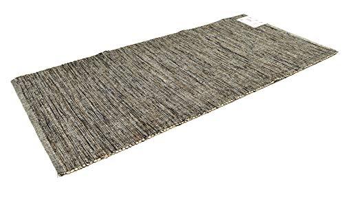 Bali Tappeto Cotone Lavabile Bagno Cucina Antiscivolo 50x80 Vari Colori Lavabile in Lavatrice 30° (50x80cm, Beige)