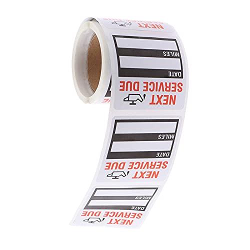 100 unids / rollo de pegatinas de recordatorio de servicio de cambio...