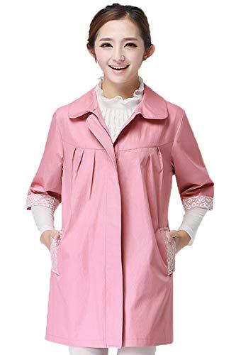 360 ° Straling Moederschapsslijtage, Metaalvezel Regenjas, Kant, Mode Werkkleding,Pink,L