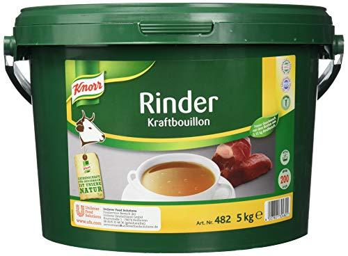 Knorr Rinder Kraftbouillon (vielseitig anwendbare Rinderbrühe, würziger Geschmack) 1er Pack (1 x 5 kg)
