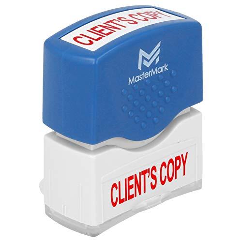 Client's Copy Stamp � MasterMark Premium Pre-Inked Office Stamp