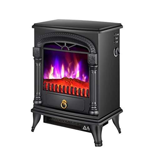 STOVES Foyer électrique, 2000W , avec Effet brûleur à bûches, Chauffage de cheminée Portable, Protection Contre la surchauffe, 2 Modes de réglage - Noir