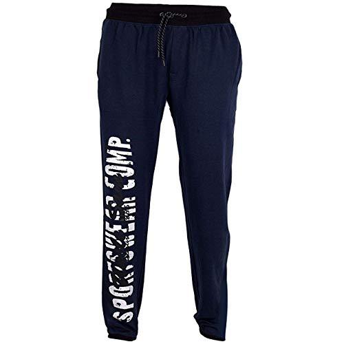 Uncle Sam Jogginghose Bodyhose mit 3-Nadelbund Herren Verschiedene Styles, Größe:XL, Farbe:Black Iris